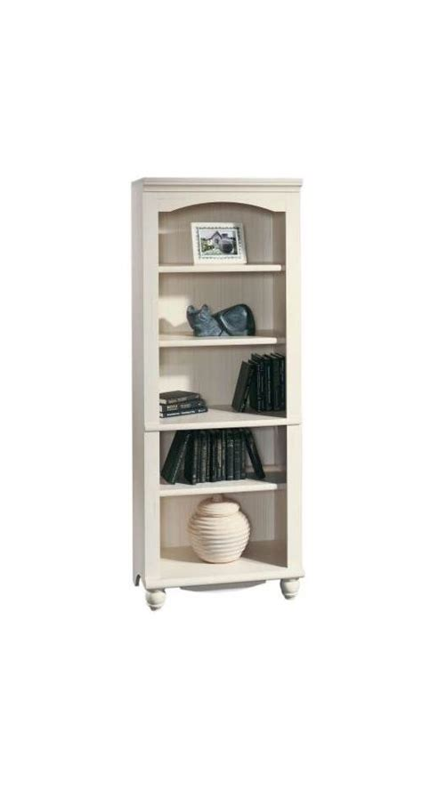 Sauder Harbor View Bookcase Sauder Harbor View Library Wall Bookcase In Antiqued Paint Walmart