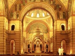St Cathedral Sanctuary New Cathedral St Louis Missouri Wallpaper