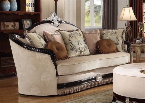 victorian sofa sets guliana victorian beige sofa loveseat set in chenille