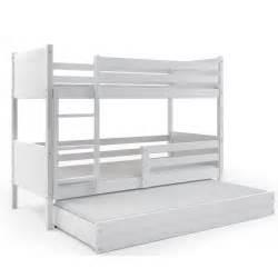 lit superpos 233 3 places rino 190x80 blanc blanc couleurs