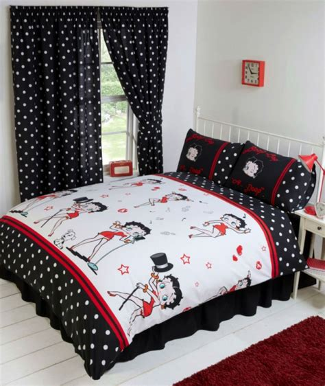 betty boop bedroom reversible bedding duvet quilt cover