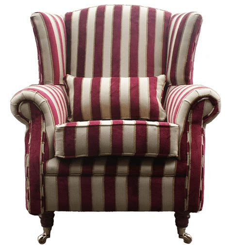 red striped armchair red stripe fabric sofa designersofas4u blog