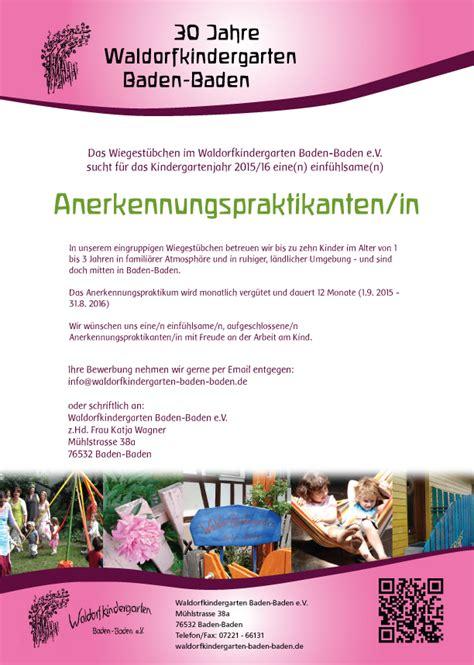 Bewerbung Email Betreff Vergeben Waldorfkindergarten Baden Baden