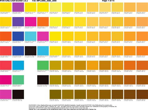 the pantone chart builder can help you make a professional