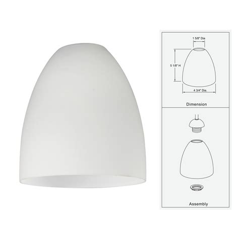 Glass Pendant Lighting For Kitchen Islands white glass bell shade lipless with 1 5 8 inch fitter