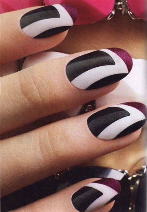black and white pattern nails 32 black and white nail designs and art nail designs for you