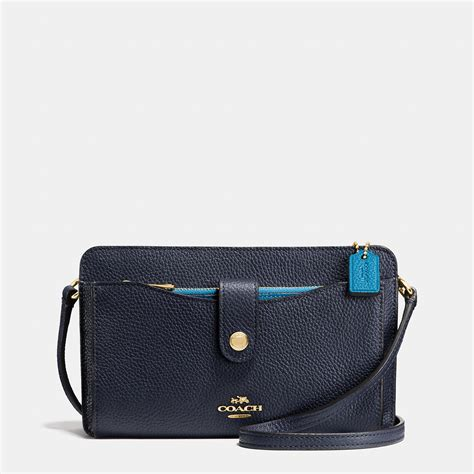 Coach Pouch coach messenger with pop up pouch in colorblock leather in
