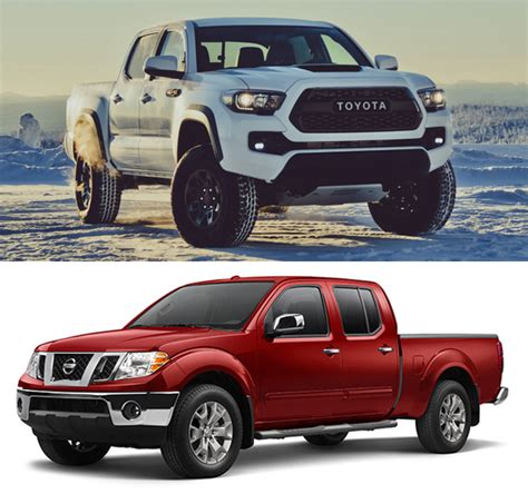 2017 vs 2018 tacoma 2017 toyota tacoma vs nissan frontier trucks reviews