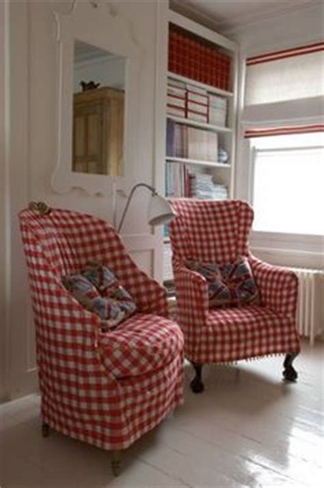 gingham armchair 1000 images about colonial fabric wing chairs on