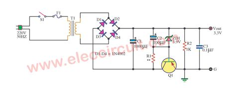 3v power supply circuit diagram simple 3 3v power supply circuit 1a for digital