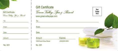 spa day gift card template spa logo gift certificate