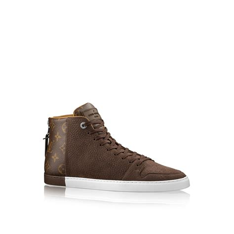 louis vuitton sneaker boot louis vuitton line up sneaker boot in brown for cacao