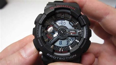 Casio G Shock Ga 110 1a Black casio g shock ga 110 anit magnetic unboxing ga 110