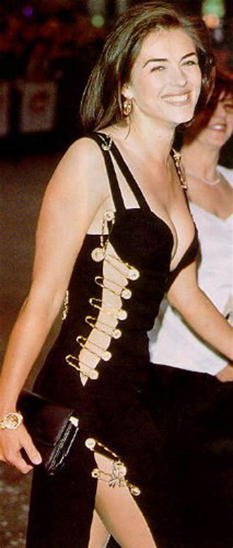 Buy Elizabeth Hurleys Safety Pin Versace Dress by R21c Fashion Liz Hurley Wearing Versace Safety Pin Dress