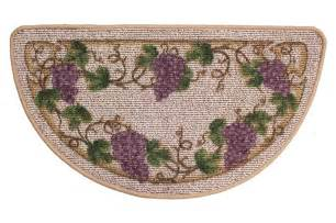 wine grapes kitchen slice rug wine decor rug