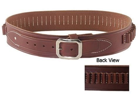 oklahoma leather deluxe cartridge belt 45 cal leather