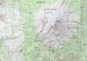 mt shasta map california review three mount shasta trail maps hike mt shasta