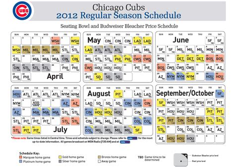 printable chicago cubs 2014 tv schedule