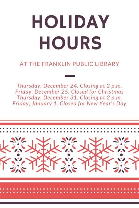 store hours template free franklin library hours at the franklin