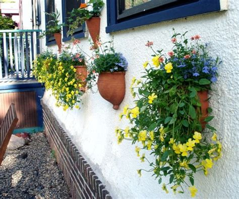 Outside Wall Planters by Ceramic Vertical Gardening Bowl By Blue Room Pottery