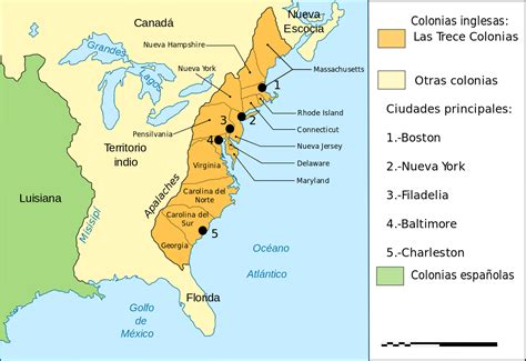 File:Map Thirteen Colonies 1775 es.svg   Wikimedia Commons