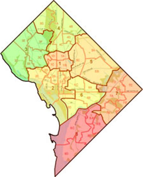 washington dc map of wards dc funding depends on 2010 census mail back rates