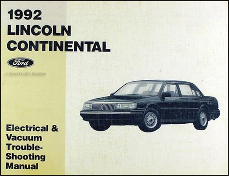 car repair manuals online free 1996 lincoln continental head up display 1988 1996 lincoln continental body collision repair shop manual original
