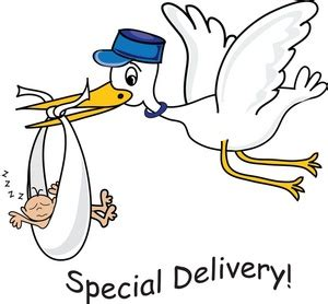 stork clipart image quot special delivery quot cartoon showing a