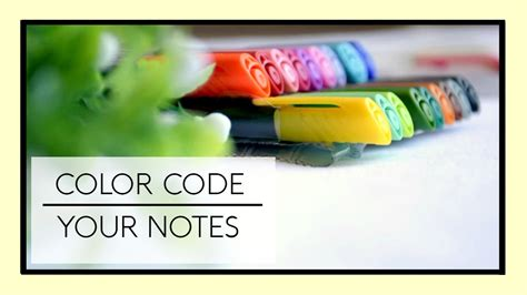 youtube color code how to color code your notes youtube