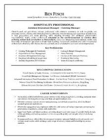 Exles Of Resume Writing by Hospitality Resume Writing Exle Page 1 Resume Writing Tips For All Occupations