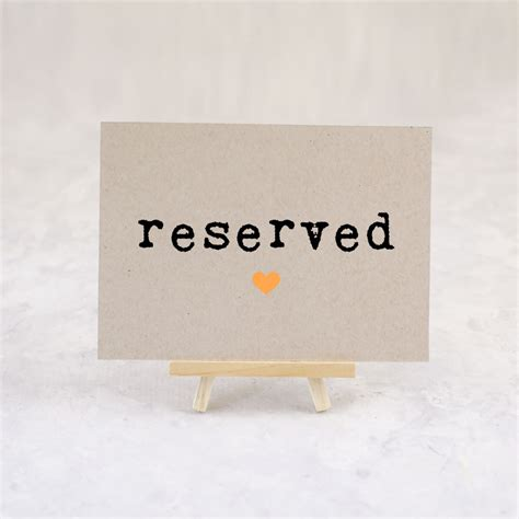reserved sign reserved seating wedding reception table sign