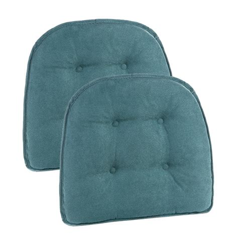 non tufted chair cushions 15 in x 16 in gripper non slip twillo marine tufted