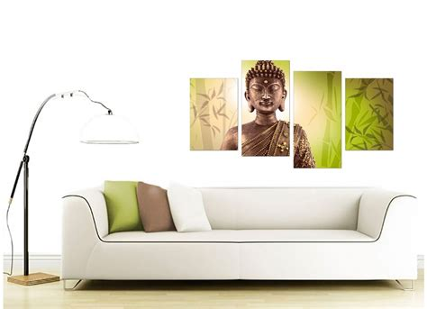 canvas of buddha in green for your living room