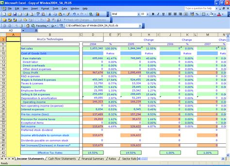yearly income statement template excel templates windex 5 year financial ratios