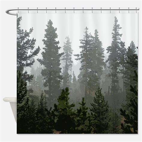 Curtains With Trees On Them Pine Tree Shower Curtains Pine Tree Fabric Shower Curtain Liner