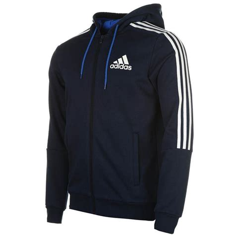 Hoodie Adidas adidas adidas 3 stripes zip through hoody mens mens hoodies