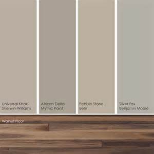 cool khaki paint picks these soft subtle hues up the warm rich shades in a walnut wood