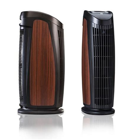 alen t500 designer tower air purifier with hepa silver to remove allergies mold and bacteria