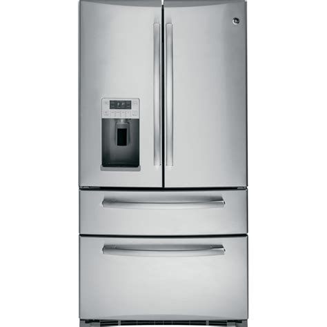 ge stainless steel door refrigerator shop ge profile 20 7 cu ft door refrigerator with
