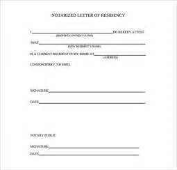 notarized letter template notarized letter template 8 free word pdf documents