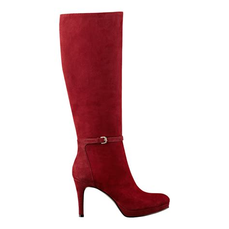 nine west suede boots nine west califa boot in wine suede lyst
