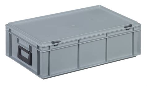 Plastic L Cover by Plastic 600x400x183 Two Handles 32 Litres Genteso