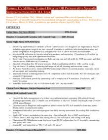 resume cv trained director of perioperative