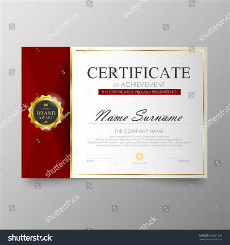 layout design certification certificate template awards diploma background vector