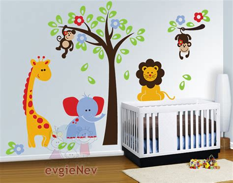 jungle stickers for nursery walls nursery wall decals baby wall decal safari wall decal