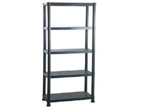 5 tier black plastic shelving shelves storage unit new ebay