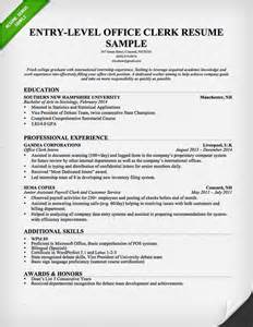 Office Clerk Resume by Administrative Assistant Resume Sle Resume Genius
