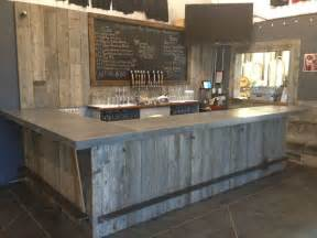 Hand Painted Kitchen Islands hand crafted reclaimed wood tasting room wall cladding