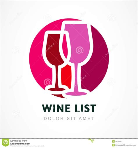 abstract logo design template red wine circle icon