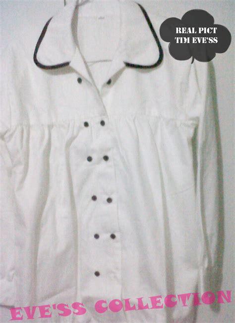 No15 Kemeja Putih Polos Panjang Kemeja Formal kemeja putih wanita lengan panjang model terbaru jual murah import kerja